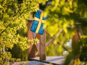 Urlaub in Schweden - Schwedische Flagge